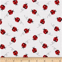 Baby Love Double Gauze Ladybugs Red