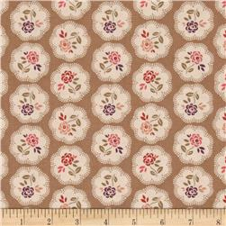 On Plumberry Lane Floral Tan