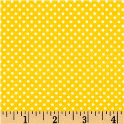 Cuddle Flannel Dots Yellow