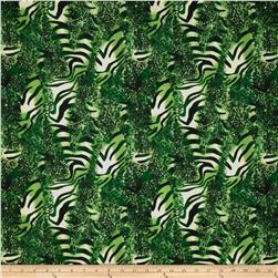 Jungle Safari Broadcloth Animal Green