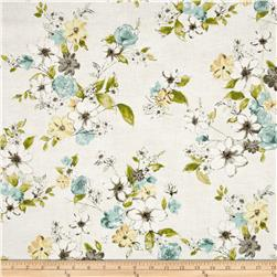 Painted Petals Metallic Painterly Floral Vintage/Silver