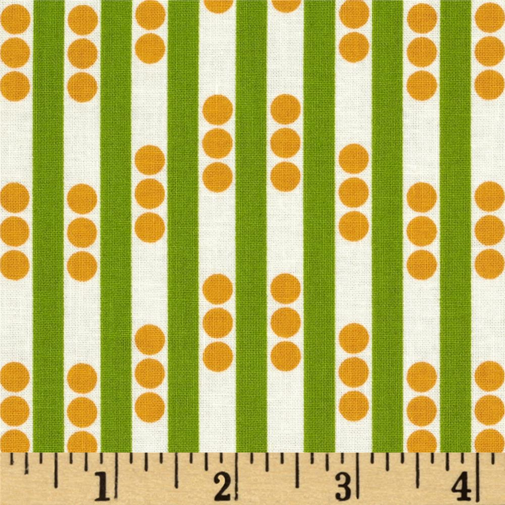 Betty Dear Stripe N Dots Lime