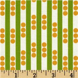 Betty Dear Stripe N Dots Lime Fabric