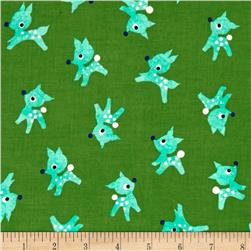 Cotton + Steel Garland Little Deer Green