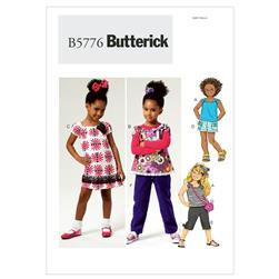 Butterick Children's/Girls' Top, Dress, Shorts, Pants and Bag Pattern B5776 Size CDD
