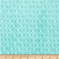 Michael Miller Minky Solid Dot Aquamarine