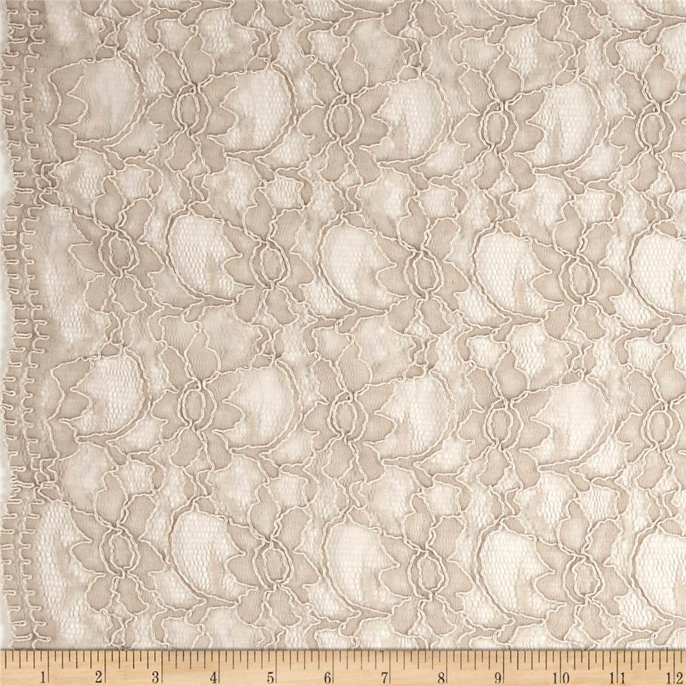 Telio Xanna Floral Lace Taupe