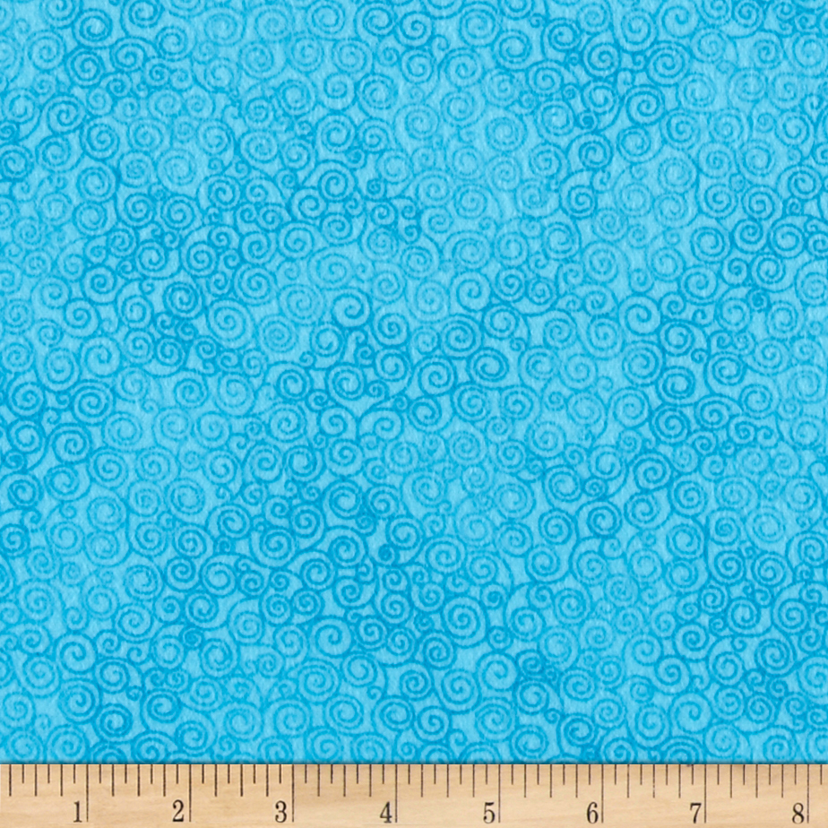 Timeless Treasures Jazz Flannel Turquoise Fabric by Timeless Treasures in USA