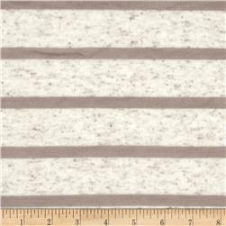 Tissue Hatchi Knit Yarn Dyed Stripes Oat/Taupe Fabric
