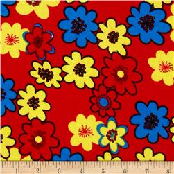 21 Wale Corduroy Large Floral Primary Fabric