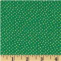 Confetti Sparkle Metallic Mini Dots Green