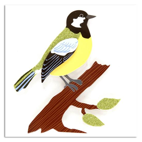 Martha Stewart Crafts Sticker Bird and Branch Green