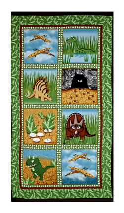 "Contempo Dino Age Blocks 23.5"" Panel Green"