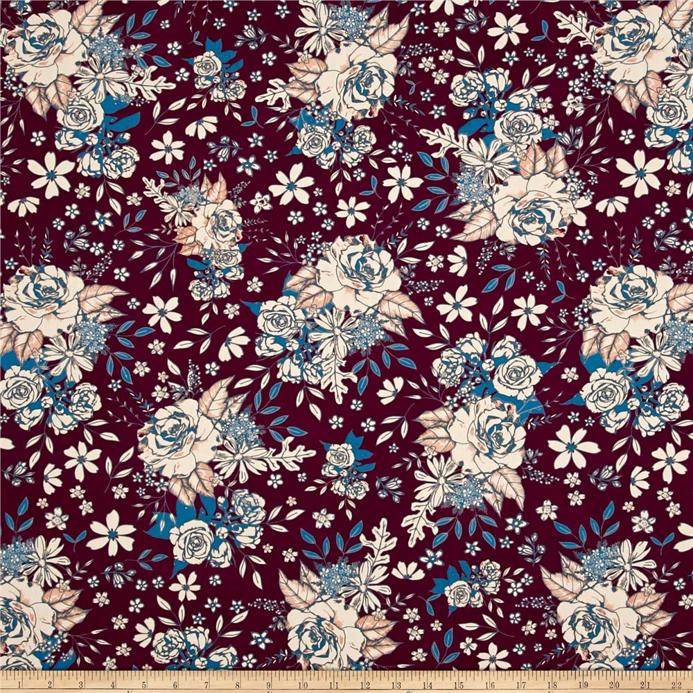 Art gallery soulful floral universe plum discount for Universe fabric