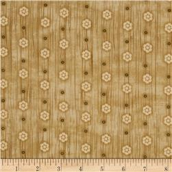 Woodland Critters Small Floral Beige Fabric