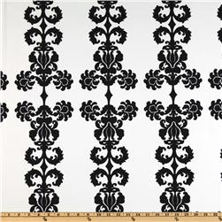 Logan Home Décor Damask Twill Black
