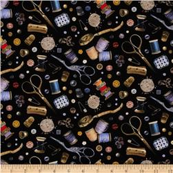 Stitch In Time Notions Black Fabric