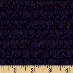 Bisou Stretch Mini Ruffle Knit Dark Purple Fabric
