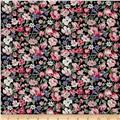 Telio Hampton Court Cotton Poplin Floral Print Black/Pink