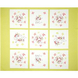 Riley Blake Butterfly Dance Panel Green