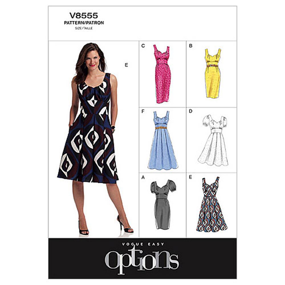 Vogue Misses' Dress Pattern V8555 Size BB0