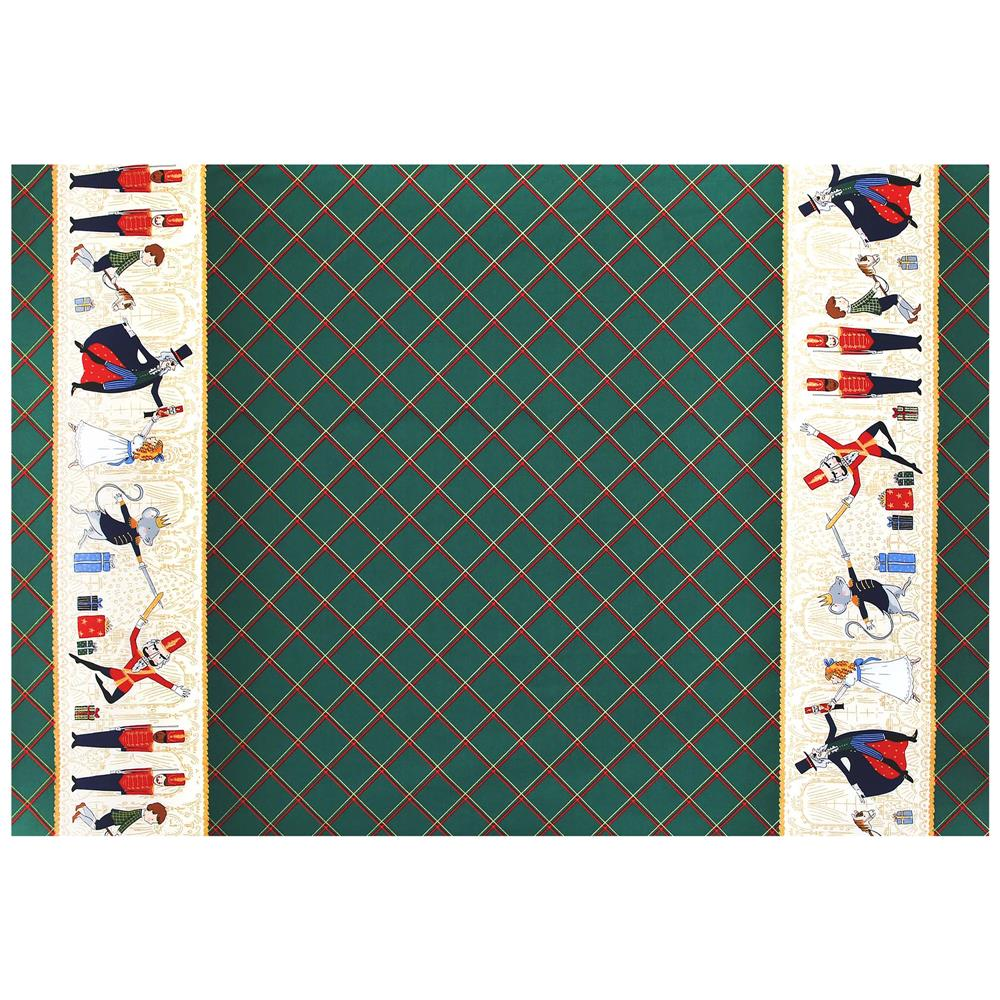 Michael Miller Nutcracker Metallic Act 1 Double Border Hunter Fabric