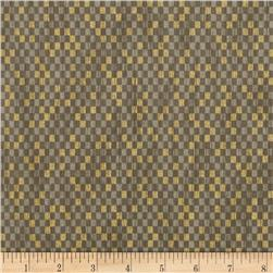 Narumi Metallic Abstract Check Taupe/Gold