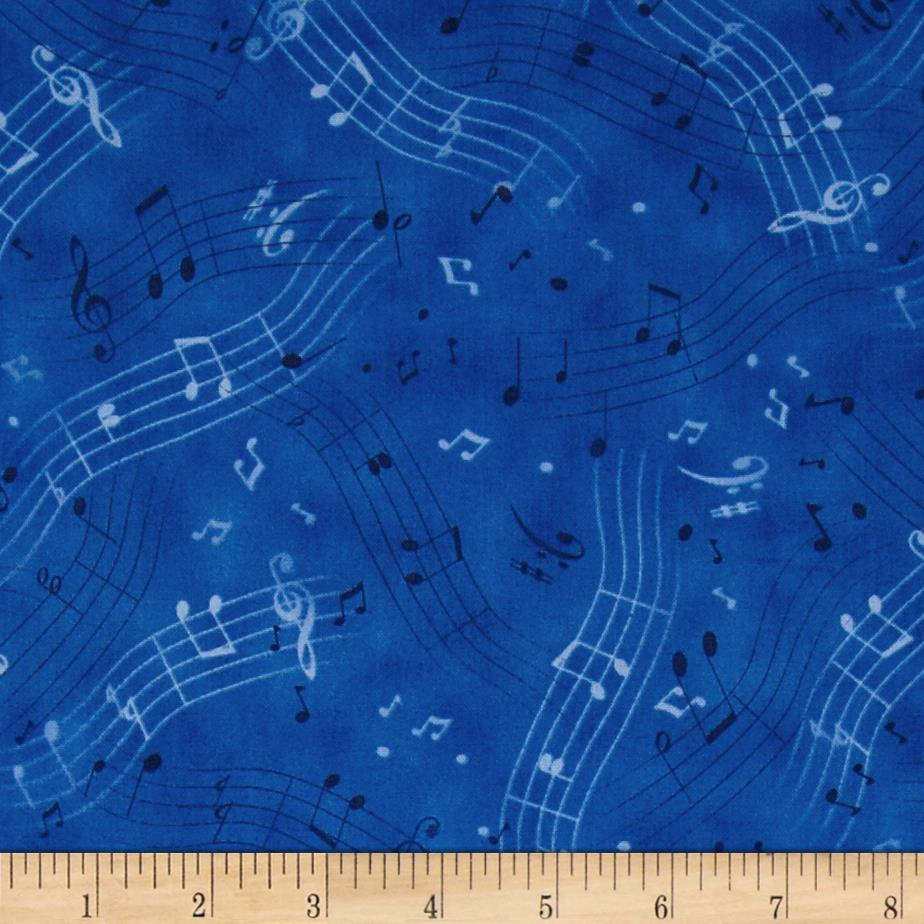 A Nation's Song Musical Notes Blue