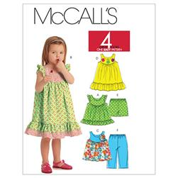 McCall's Toddlers' Tops, Dresses, Shorts and Capri Pants Pattern M5835 Size CCB