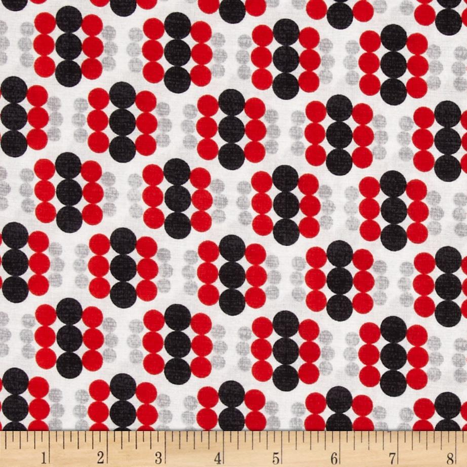 Mod Tex Geo Circles Red