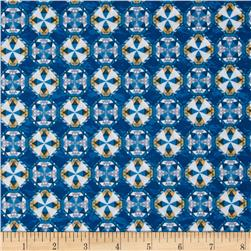 Sea Quilts Medallions Blue