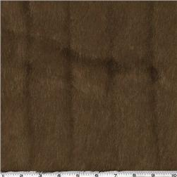 Faux Fur Grooved Mink Brown