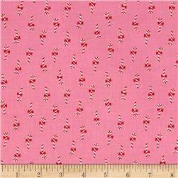 Cotton + Steel Noel Candy Canes Pink