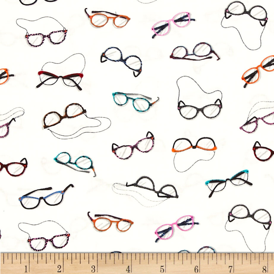 Eye Glasses White Fabric