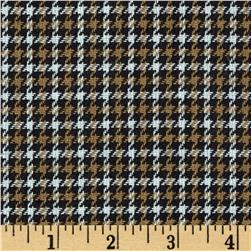 Small Woven Houndstooth Brown/White/Black