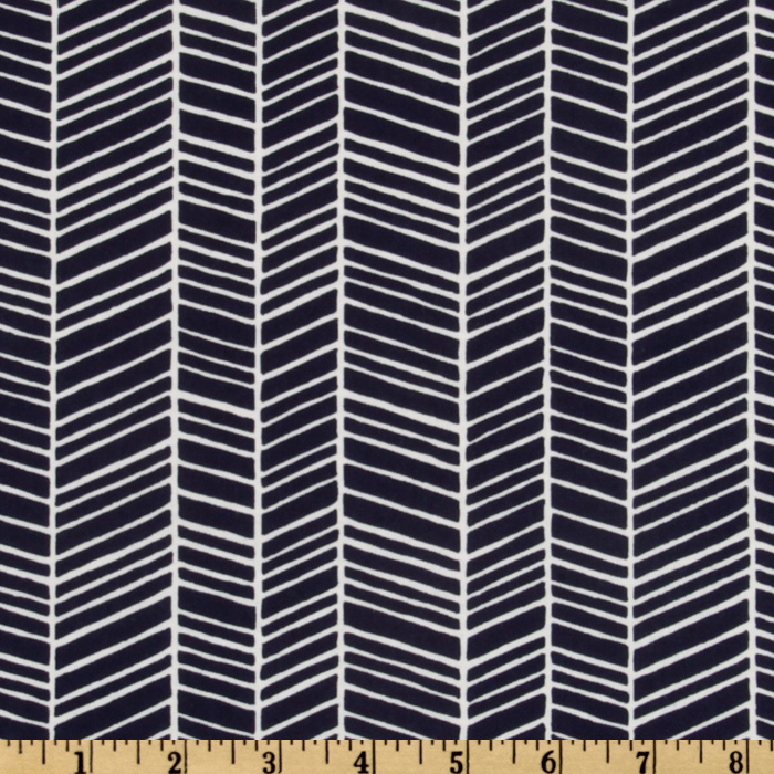 Modern Meadow Herringbone Lake Fabric