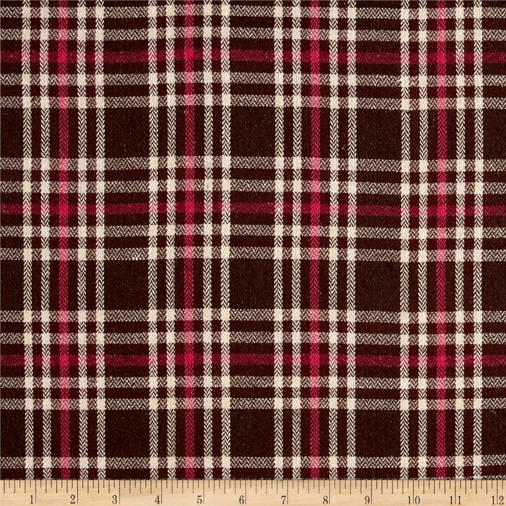 Yarn Dyed Plaid Flannel Pink Fabric