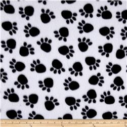 Animal Frenzy Paw Print Fleece White/Black
