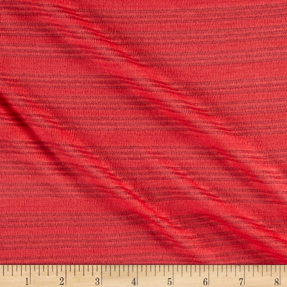 Sheer Stripe Sweater Knit Coral Fabric By The Yard