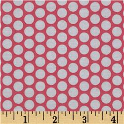 Riley Blake Honeycomb Dot Hot Pink/White Fabric