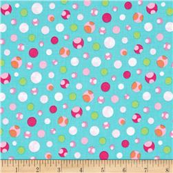 Girly-o-Saurus Dino Dots Aqua