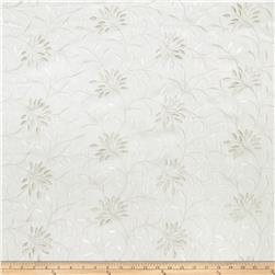 Fabricut Elmley Embroidered Linen Blend White