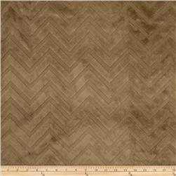 Minky Cuddle Embossed Chevron Cappuccino Fabric