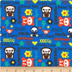 Skelanimals Sweet Babu Blue Fabric