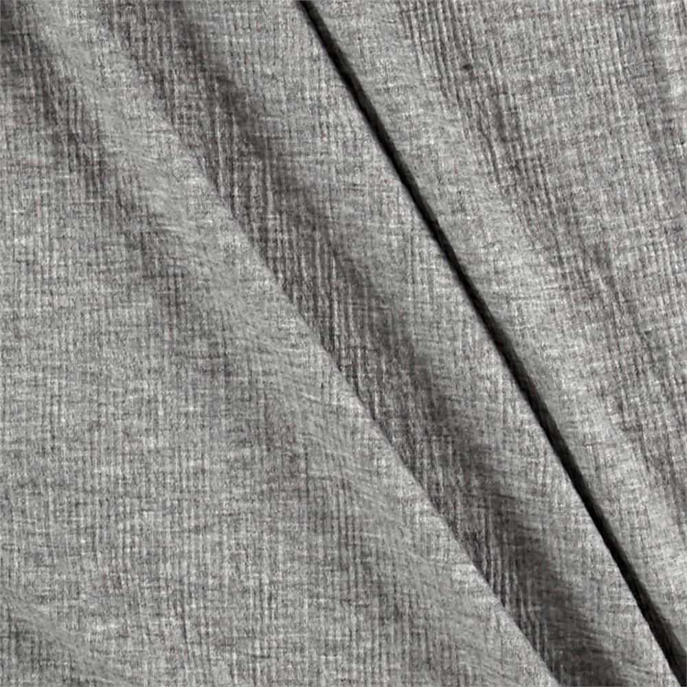 Textured Jersey Knit Solid Heather Gray