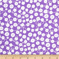 Michael Miller Kids Bouncy Buttons Lavender