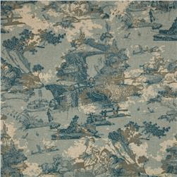 Premier Prints Birmingham Toile Blend Cadet Fabric