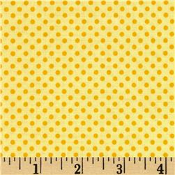 Riley Blake Roots & Wings Dots Yellow Fabric