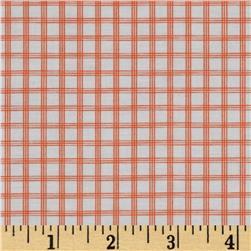 Citrus Tattersall Plaid Coral