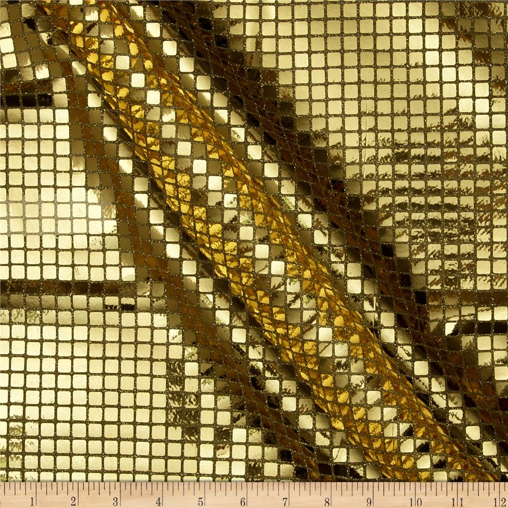 Sequin Check Fabric Gold - Discount Designer Fabric ...